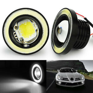 "SOCAL-LED 2x 3.5"" High Bright LED Angel Eye Fog Light Projector White Waterproof"