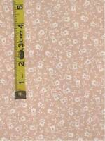 floral sewing quilting fabric beige white 1 1/2 yards x 44""