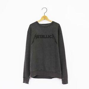 Men's 'Metallica' Distressed Vintage-Style Rock Sweatshirt
