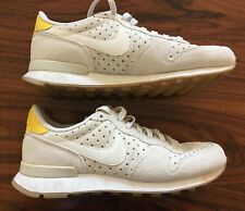 Nike Perforated Beige Suede Trainers size UK 5.5 EU 39 US 8 - Good condition
