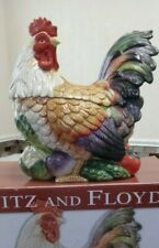 "Fitz And Floyd ""Country Road"" Rooster Cookie Jar/Lidded Box-Retired"