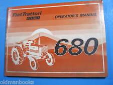 FIAT TRATTORI  680 OPERATOR'S MANUAL