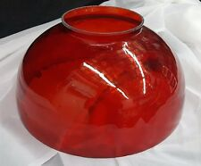 Large Ruby Red Glass Lamp Globe Shade