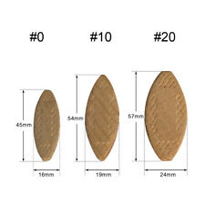#0 #10 #20 100Pc Beech Wood Biscuit Jointers Plate Tool Woodworking Equipment
