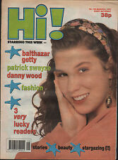 Hi! Magazine 2 March 1991   Patrick Swayze   Balthazar Getty   The Charlatans