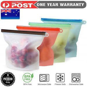 Reusable Leak-proof Snacks Bags for Lunch Freezer Food Storage Fruit Storage Bag
