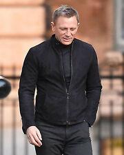 James Bond Spectre 100 Genuine Lamb Black Suede Leather Jacket With Two Way Zip