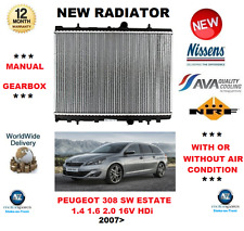 FOR PEUGEOT 308 SW ESTATE 1.4 1.6 2.0 16V HDi 2007> NEW RADIATOR OE QUALITY