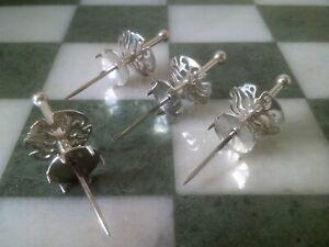 Set of Four Birmingham Hallmarked Solid Silver Cocktail Sticks