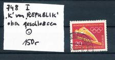 DDR Nr. 748 PF: I    (nach Michel) ,  gestempelt Bedarf (6498)