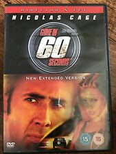 Nicolas Cage Gone in 60 seconds ~2000 action film estesa dir. taglio UK DVD