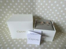 Clogau Gold, 9ct Rose & White Gold Peacock Throne Topaz Stud Earrings RRP £350