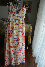 * NWOT ** SZ 10 ***BLUEJUICE *** PRETTY SILK MAXI DRESS