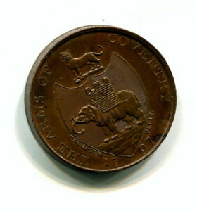 gb, 1797  coventry trinity church  token about uncirculated,superb token