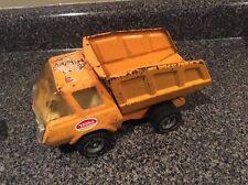 Tonka Pressed Steel Dump Truck, Bed Tilts, Construction Vehicle, Orange/Yellow