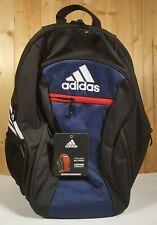 Adidas Soccer Estadio Team Backpack IV Black w/ Navy and White Stripes * NEW *
