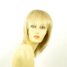 Perruque femme mi-longue blond doré méché blond très clair  FANIE 24BT613