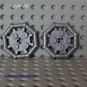 75937  LEGO®  2x Platte 2x2 mit oktagonalem Rahmen - mattsilber - 6020990