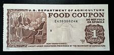 1986 $1 Food Coupon, U.S. Dept. Agriculture (obsolete) *UNC* - FREE COMBINED S/H
