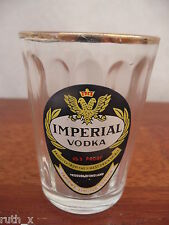 RARE Ribbed IMPERIAL VODKA Shot Glass MARSHALL TAPLOWS Ltd London VINTAGE 1950s