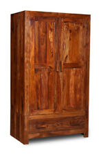 CUBA BEDROOM SHEESHAM FURNITURE DOUBLE WARDROBE (CB1W)