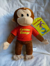 Curious George Monkey TV Cartoon Stuffed Plush Soft Toy Doll 25cm New Licensed
