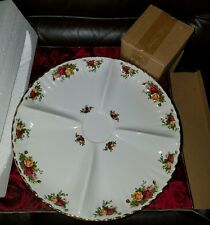 NEW Royal Albert Old Country Roses Chip & Dip Set Snack Server Platter Tray Bowl