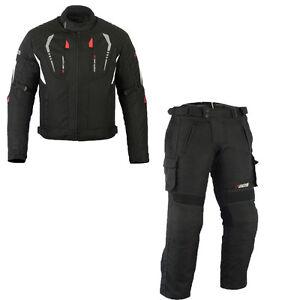 Top Textilkombi wasserdicht schwarz zweiteilig Motorradkombi, Textil Biker Kombi