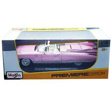 Maisto 1:18 36813 1959 Cadillac Eldorado Biarritz Convertible Diecast Car Pink