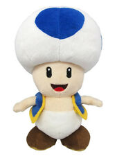 1x Sanei (AC31) Super Mario All Star Collection - Blue Toad Stuffed Plush Doll