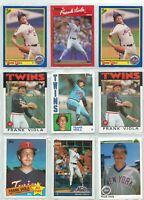 1984 Topps Frank Viola #28 Baseball Card + 8 other Viola! Free Shipping!