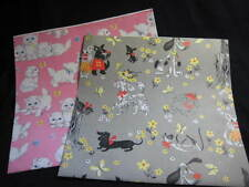 Vintage Gift Wrap Poodles, Dalmations and kittens Mixed media/scrapbooking