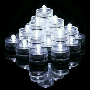Clear Waterproof Underwater LED Battery Powered Tea Light (Pack of 32)