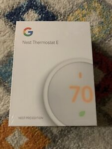 Google Nest Thermostat E BRAND NEW Factory Sealed - T4001ES - Nest Pro Edition