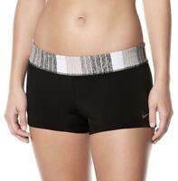 NEW NWT Women's Nike Swim Kick Shorts Choose Size Black/Gray