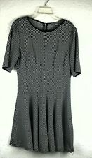 Danny and Nicole  Womens Dress Size 14 Short No Wrinkle Black White