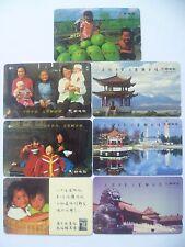 VINTAGE ! 7 pcs. 90s' Singapore Phone Card - Singapore Telecom 一卡传乡音,万里解乡情 (A17)