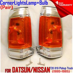Fits Nissan Datsun 720 819 Pickup Truck 1980-1985 Pair Corner Lights Lamp Socket