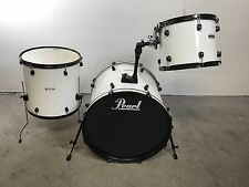 Pearl Forum 3 Piece Kit Pure White with Black Hardware 22/16/12""
