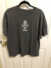 Google Alphabet Company T-Shirt Grey Microphone Logo Size XL Gray Extra Large