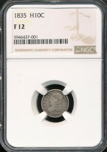 1835 Capped Bust Half Dime NGC F 12 *Nice, Original Coin!*
