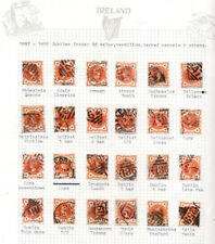 *Ireland Postal History collection of Irish Postmarks on 1887 Jubilee 1/2d Val*.