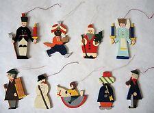 9 Christbaumfiguren aus Holz