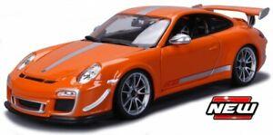 PORSCHE 911 GT3 RS 4.0 BLUE WHITE ORANGE or BLACK model 2012 1:18 BURAGO 11036