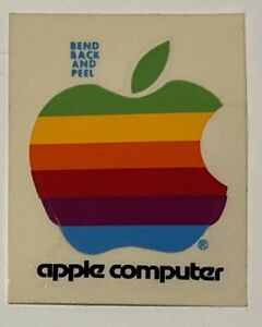 Vintage Apple Computer Decal Stickers Rainbow Logo New Old Stock 80's