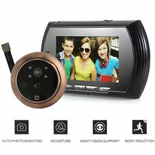 "4.3"" LCD Digital Peephole Viewer Door Eye Doorbell Video IR Motion Camera 8GB TF"