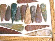 Arrowheads 5 1/2-4 1/2 inch hand knapped all natural agate 2 arrowheads per lot