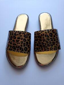 """Women's, Sandal, New, Leopard ,Slide Flat Heel  """"Pick your Size"""""""