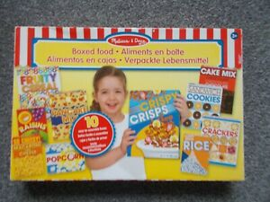 MELISSA AND DOUG BOXED FOOD FOR PRETEND PLAY