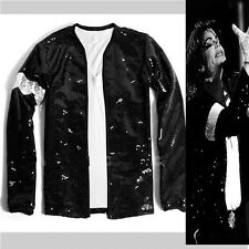 MICHAEL JACKSON BILLIE JEAN SEQUIE JACKET GLOVE MJ COSTUME FOR GIFT PERFORMANCE